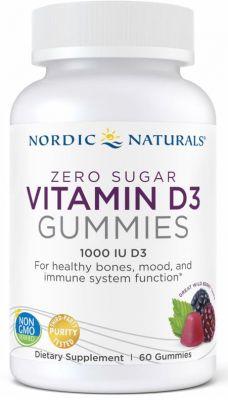 Nordic Naturals Zero Sugar Vitamin D3 Gummies Wild Berry