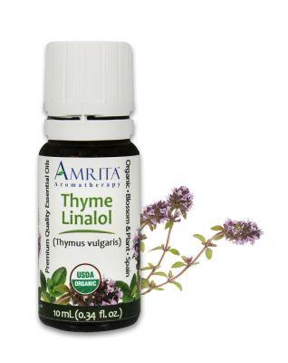 4941-1/3oz, Amrita Thyme, Linalol, Certified Organic