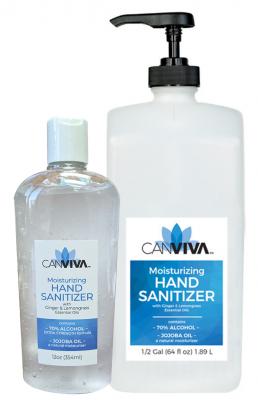 Canviva Moisturizing Hand Sanitizer 12oz 70% Alcohol + Jojoba Oil