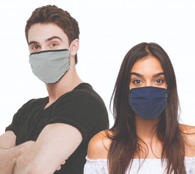 Reusable Layered Cloth Face Masks - 5 per bag