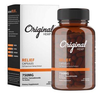 Original Hemp Relief Capsules - Full Spectrum Hemp Extract