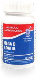 Anabolic Labs 0106 D 1,000 I.U. Vitamin D3 Cap (Mega D)