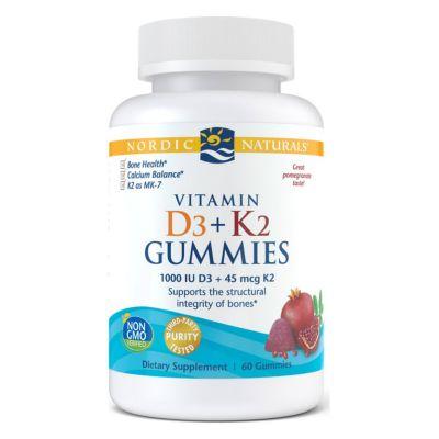 Nordic Naturals 31160 Vitamin D3+K2 Gummies